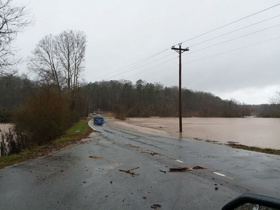 UPDATE: More Hall Co  roads closed because of flooding